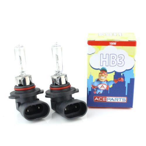 Fits Honda Civic MK7 HB3 100w Clear Xenon HID High Main Beam Headlight Bulbs