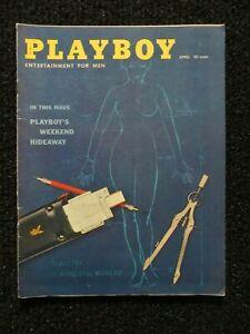 Vintage Playboy Magazine April 1959  Higher Grade!!  Flat Glossy Book!! Pics!!