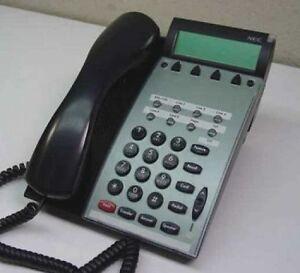 lot of 4 nec dtu 8d 2 bk tel phones black 770012 100 functional 1 rh ebay com NEC Dterm Series E Manual NEC Phones Instruction Manual