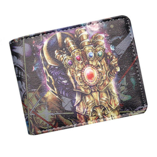 The Avengers Thanos Infinity Gauntlet Wallet Bifold PU Leather Purse Coin Wallet