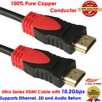 25ft Ultra High End V1.4 Hdmi Cable With Ethernet 3d Hdtv 1080p Ps4 Full Hd