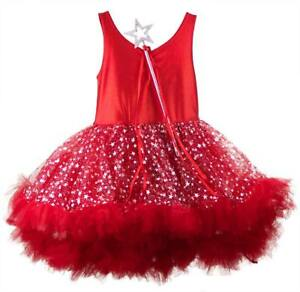 Details about Fairy Costume Girls | Fairy Dress Tutu | Size 5 | Costume Red Party Dress Up New