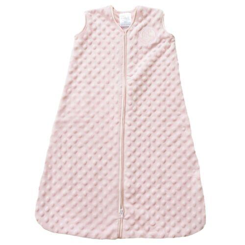 Medium Pink HALO SleepSack Plush Dot Velboa Wearable Blanket