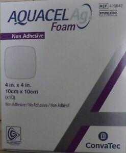 Aquacel Ag Foam Non Adhesive Dressing 4 X 4 Ref 420642 Exp