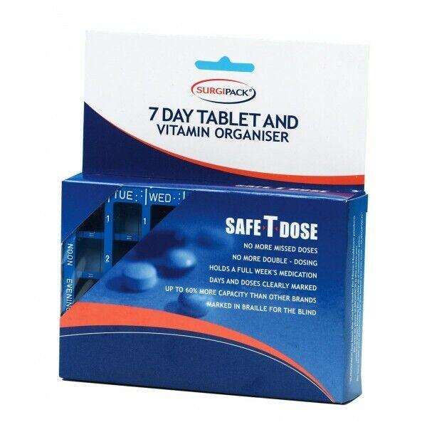 SurgiPack Safe-T-Dose Tablet Organiser 6077