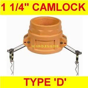 "CAMLOCK NYLON TYPE A 1 1//4/"" CAM LOCK IRRIGATION FITTING"