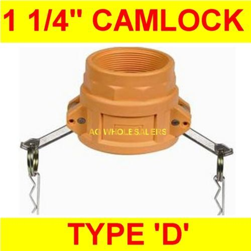 "CAMLOCK NYLON TYPE D 1 14"" CAM LOCK IRRIGATION FITTING"