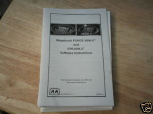 MEGATOUCH-FORCE-ION-2006-SOFTWARE-manual