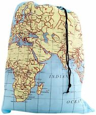 item 3 kikkerland travel world map washable laundry bag 100 polyester lb06mp kikkerland travel world map washable laundry bag 100 polyester lb06mp
