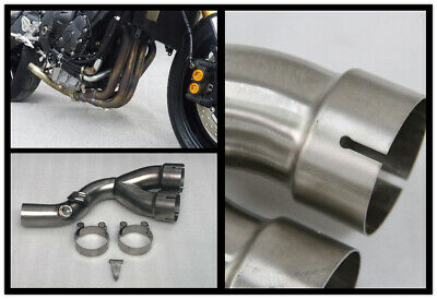 Race decat eliminator muffler Y mid pipe link For Yamaha YZF-R6 2006-2019 2018