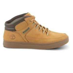 Mens-TIMBERLAND-DAVIS-SQUARE-MID-HIKER-Wheat-Boots-0A1UZV-UK-10-5