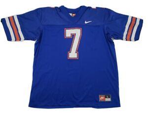 Vintage-Nike-UF-FLORIDA-GATORS-7-Blue-NCAA-FOOTBALL-JERSEY-ADULT-Sz-Lg-USA-Made