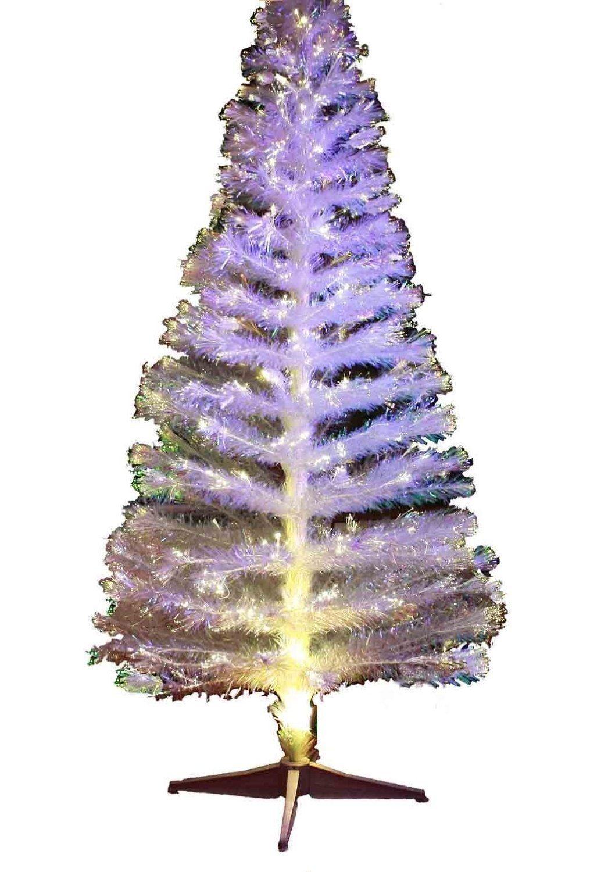 HAAC künstlicher Weihnachtsbaum WEISS LED Licht Farbwechsler Farbwechsel 180 cm