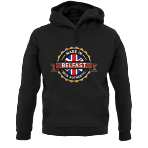 City Hometown Ulster Northern Ireland Made In Belfast Unisex Hoodie