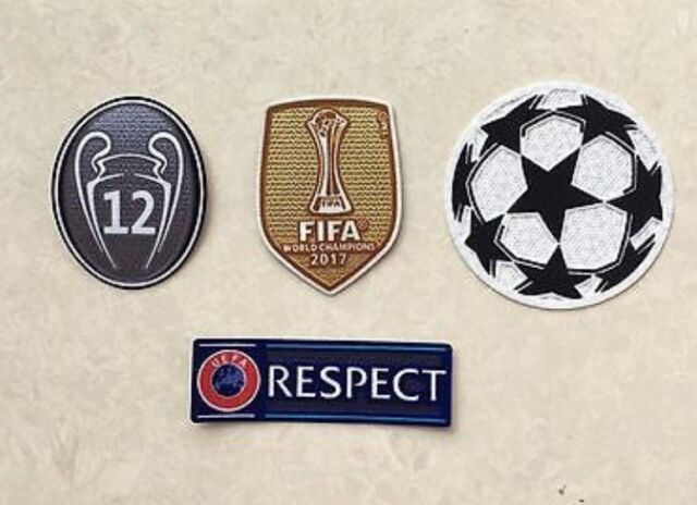 2017/2018 UEFA FIFA World Champions League Trophy 12 Patch Badge for Real  Madrid