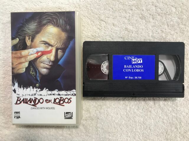 BAILANDO CON LOBOS VHS  KEVIN COSTNER DANCES WITH WOLVES