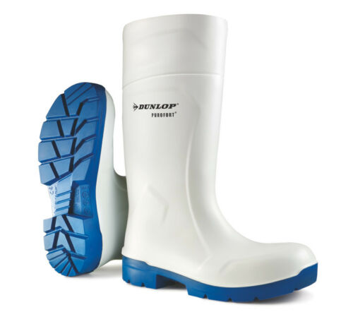 Dunlop CA61131 FoodPro Purofort MultiGrip Safety Wellingtons White Size 3-14