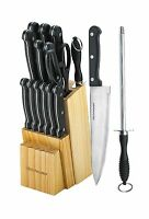 Knife Set With Wooden Block - 15 Piece Set Includes Chef Knife ... Free Shipping