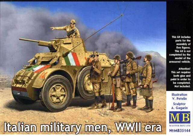 Masterbox Italien Militaire Men Italien Soldats Commandant 1:3 5 Modèle Kit