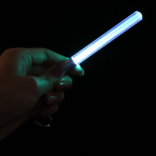 Lot Durable Glow Pen Flash Torch Magic Stick Lightsaber Keychain LED Light