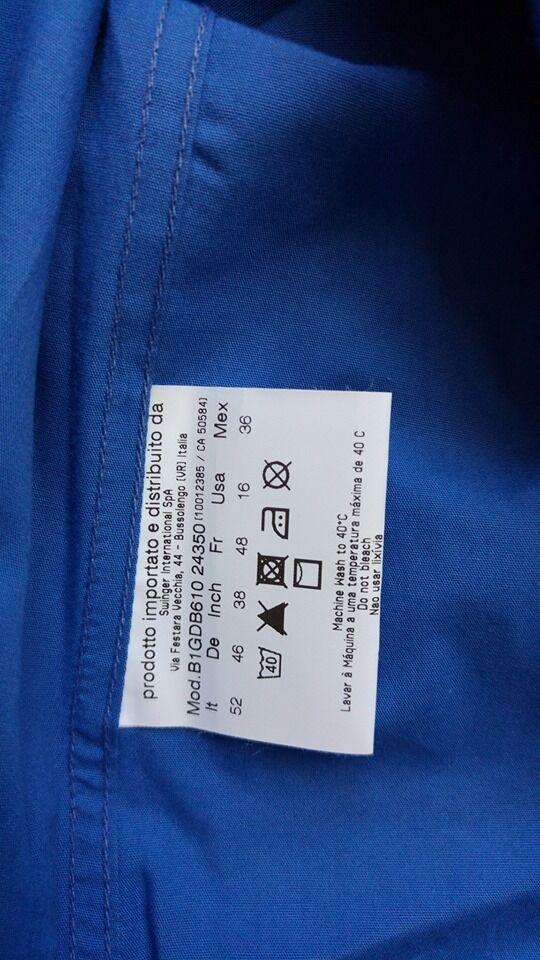 VERSACE Jeans Uomo Regular Fit Camicia Blu Blu Blu TG 52  5699e1