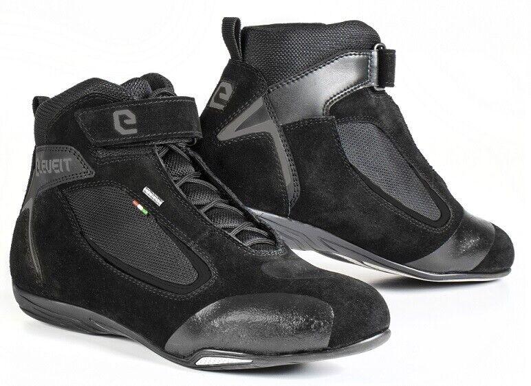Shoes Motorcycle Eleveit Ventex Wp Black Shoes Waterproof