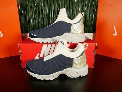 Nike Air Max Plus Slip SP Womens Midnight Navy Silver Grey 940382-400 Multi Sz