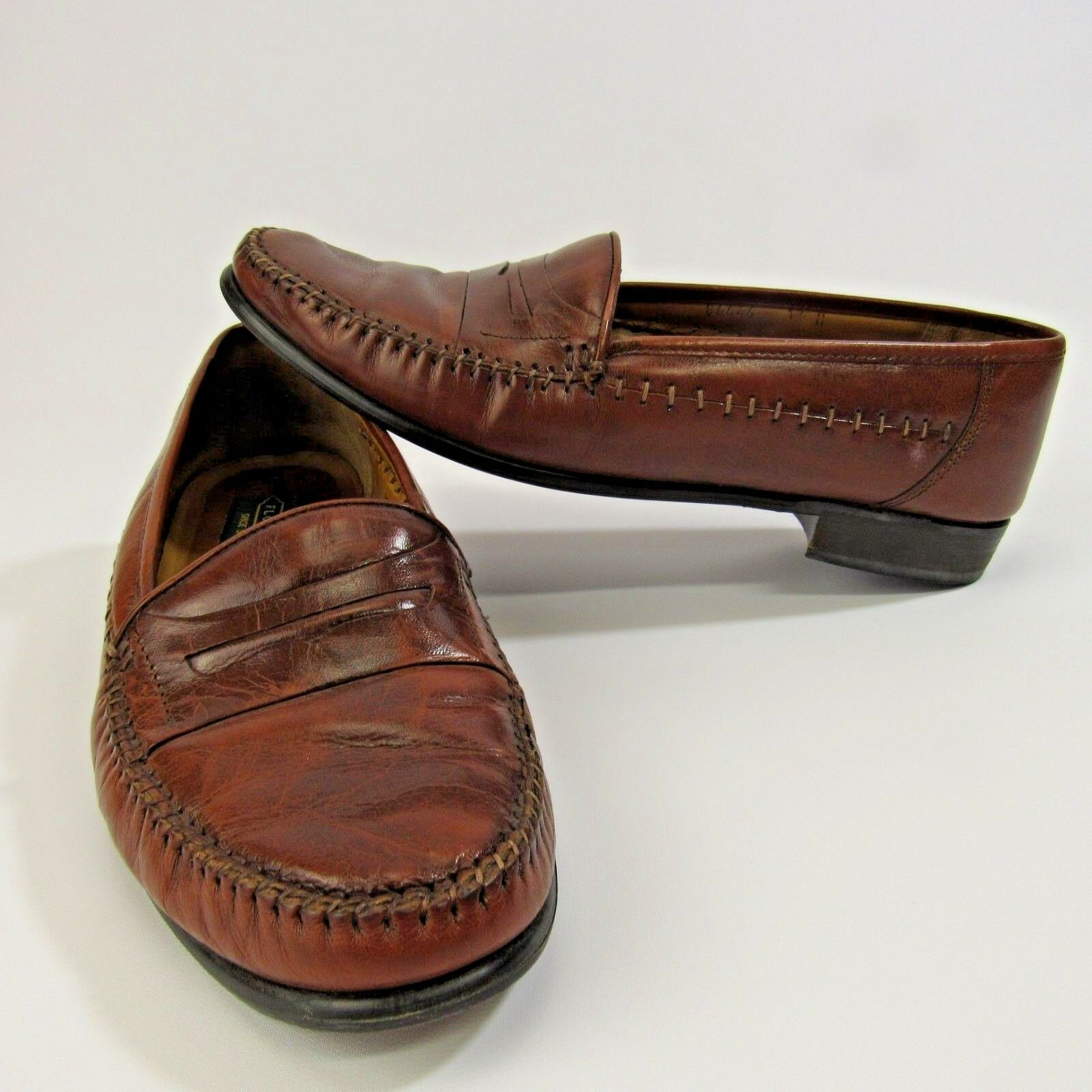 Florsheim Leather shoes Men's Size 11 Penny Loafers Oxfords Brown