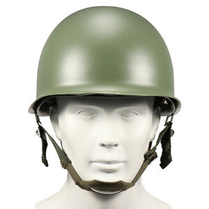 WW2-USA-Military-Steel-ABS-M1-Helmet-WWII-Outdoor-Army-Equipment-New-D