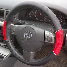STEERING WHEEL COVER FITS BMW Z1 Z3 Z4 Z8 BLACK WITH RED MESH PANELS 1446