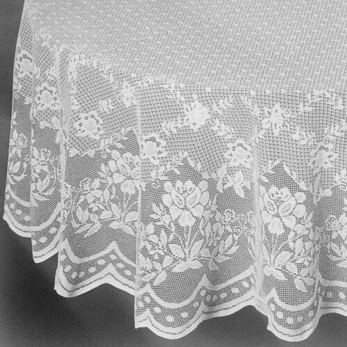 White Lace Round tablecloth 90 inches Perfect for Wedding Party banquet