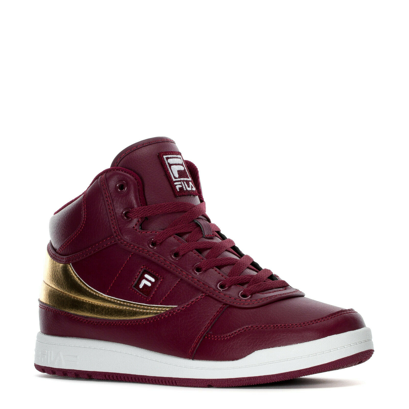 FILA BBN 84 NS MID LEATHER TRAINER SPORTS SNEAKERS MEN SHOES RED SIZE 10 NEW