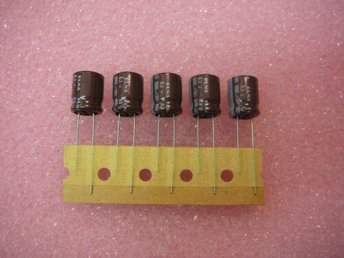 ELNA Capacitor Aluminum Electrolytic 1000uF 6.3V 10X12.5  **NEW**  Qty.5