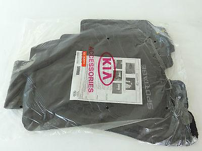 Genuine KIA Sportage Carpet Floor Mat Set Front & Rear NEW OEM Dark Grey