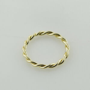 14K-Gold-Twisted-Seamless-Nose-Hoop-Ring-22G-0-6mm-8-mm-Dia-Ear-Tragus-Ring