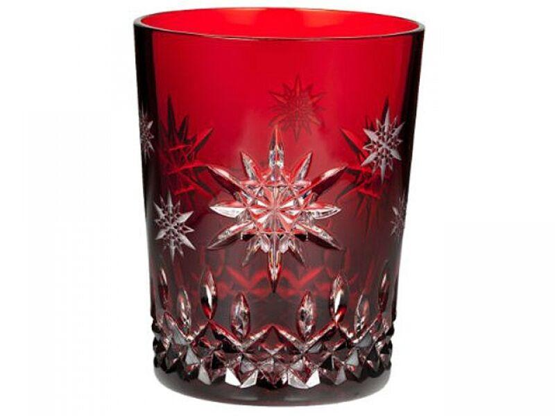 WATERFORD Snowflake 2011 Wishes Joy Prestige Ruby Double Old Fashion Neuf 1st