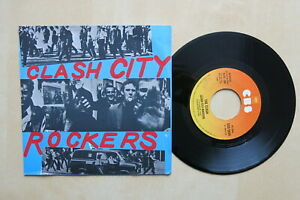 THE-CLASH-Clash-City-Rockers-Italian-7-034-in-picture-sleeve-CBS-5834-1978