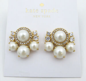 2e056626548c3 Image is loading kate-spade-new-york-034-Pearl-Cluster-Studs-