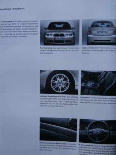 BMW 316ti 318ti 320td 325ti e46 COMPACT youngline M Sport Pacchetto 2 brochure 2002