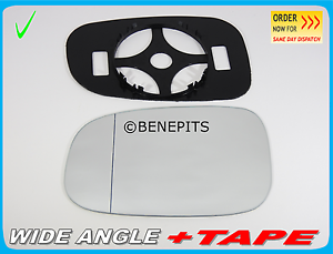 BP+TAPE Left Side //P008 For VOLVO c30 c70  2003-2008 Wing Mirror Glass Aspheric