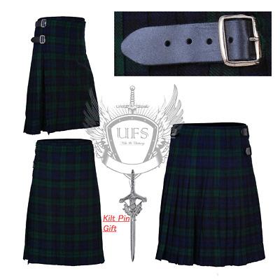 UFS New 8 Yard Kilt Scottish Men's Kilts 16oz,Casual Kilts,Camel Thompson Tartan