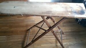 Details About Authentic Original Vintage Or Antique Wooden Ironing Board In Working Order
