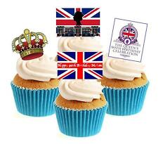 Novelty Queen Birthday Collection 12 Edible Stand Up wafer paper cake toppers