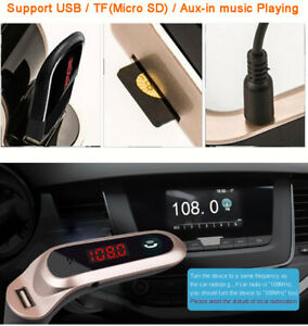 Wireless-In-Car-Bluetooth-MP3-FM-Radio-Transmitter-Aux-Handsfree-USB-Charger-Kit