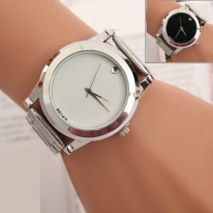 New-Women-Men-Bracelet-Stainless-Steel-Unisex-Dial-Analog-Quartz-Wrist-Watch