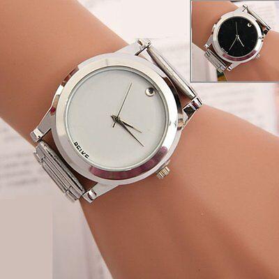 Fashion Women Men Stainless Steel Watches Analog Quartz Movement Wrist Watch