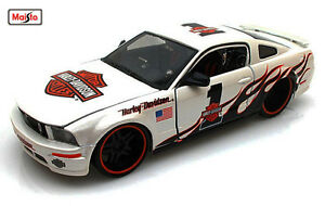 Maisto-1-24-2006-Ford-Mustang-GT-Harley-Davidson-Diecast-Model-Racing-Car-Toy