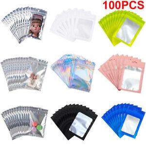 100XClear Matte Shiny Zip Seal Mylar Bags Aluminum Foil Resealable Zip Lock Bags