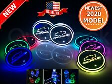 2Pcs USB Charge LED Car Cup Holder Bottom Pad Atmosphere Light For Mercedes-Benz