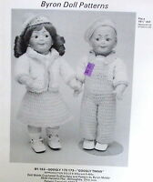 Vtg 80s Crochet Pattern Byron Doll Googly Twin Outfits 15.5